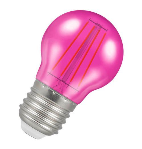 Crompton LED Golfball E27 4W Pink 9837 Image 1