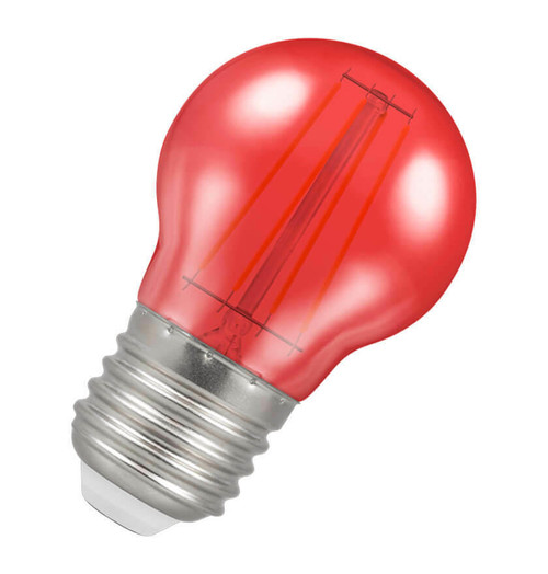 Crompton LED Golfball E27 4W Red 9844 Image 1