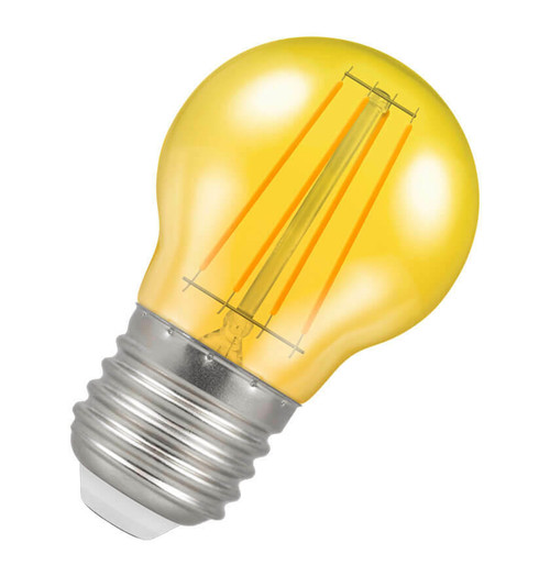 Crompton LED Golfball E27 4W Yellow 9851 Image 1