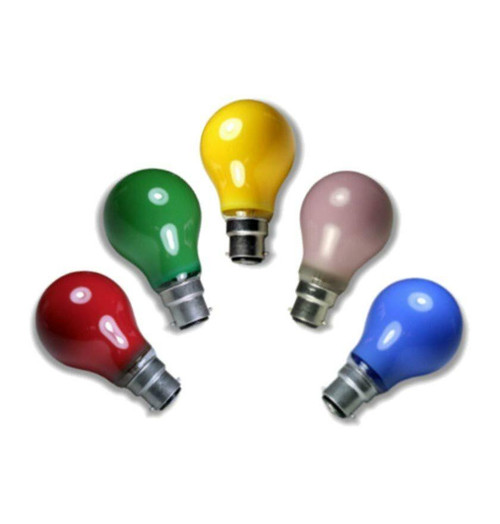 Crompton Festoon GLS B22 25W Mixed Colours Bulb Image 1
