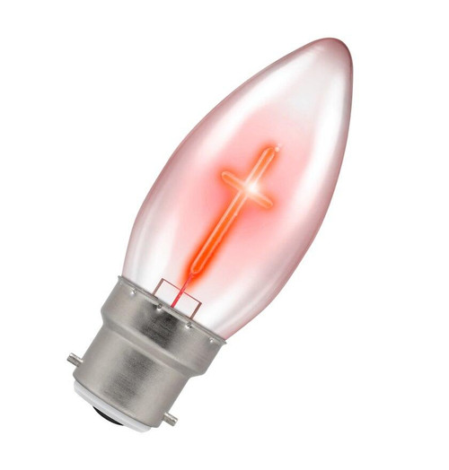 Crompton LED Candle B22 1.2W Red X5939 Image 1