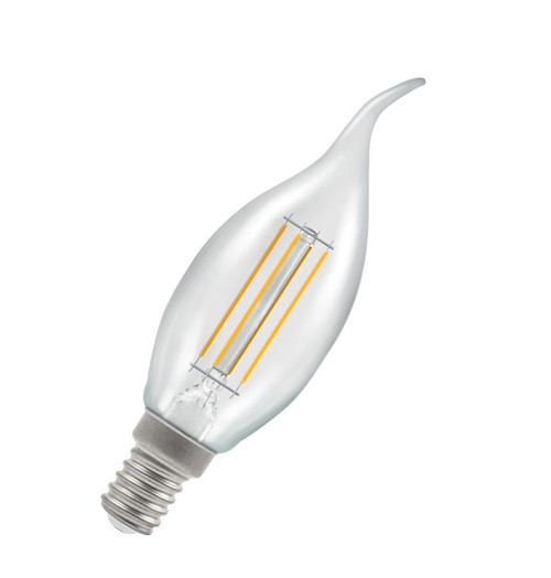 Crompton LED Bent Tip Candle E14 5W Dim 2700K 12165 Image 1