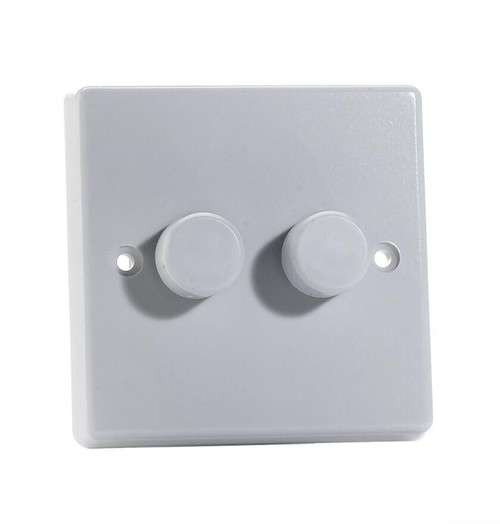Varilight LED V-Pro Dimmer Switch 2 Gang JQP252W Image 1