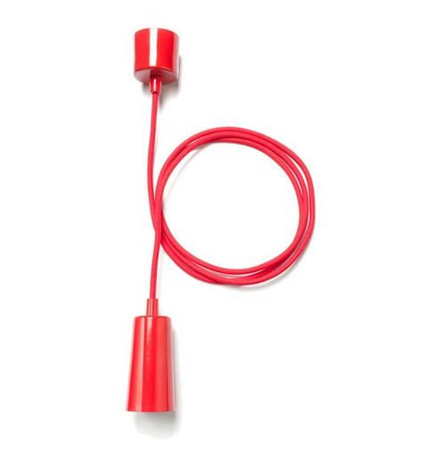 Plumen Designer Drop Pendant E27 8.4W 1302021201-Red Image 1
