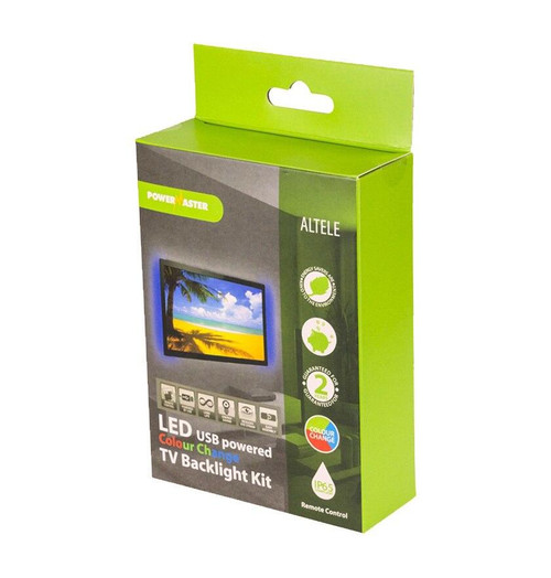 PowerMaster LED USB TV Backlight Colour Changing RGB S8022 Image 1