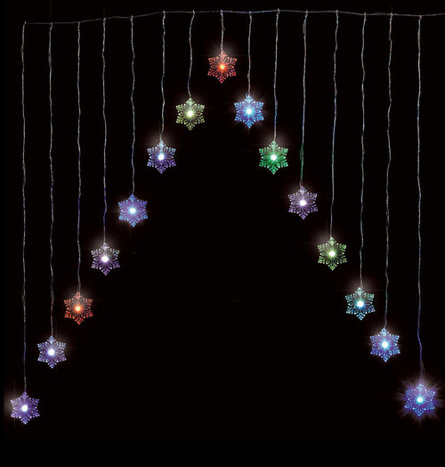 Sentik LED Snowflake Curtain Light Colour Changing 54015S Image 1