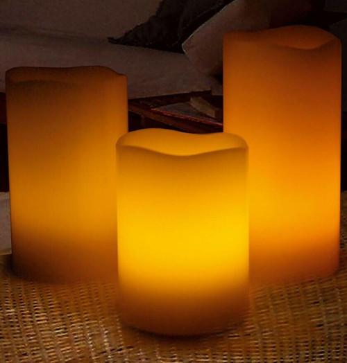 Sentik LED Vanilla Scented Mood Candles (3 Pack) 54078S Image 1
