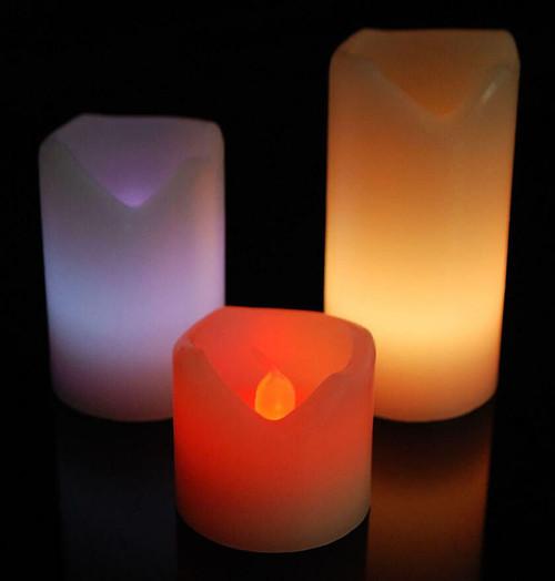 Sentik LED Mood Candles (3 Pack) Colour Changing 54083S Image 1