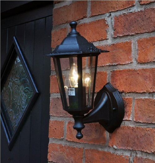 Dusk Til Dawn Victorian Style Wall Lantern E27 OUT15 Image 1