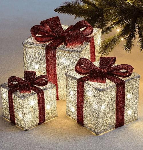 Sentik LED Christmas Parcels (Set of 3) 54108s Image 1