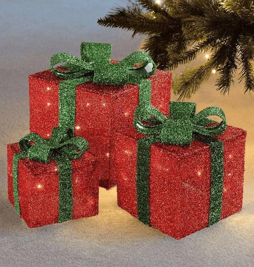 Sentik LED Christmas Parcels (Set of 3) 54110s Image 1