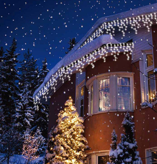 Sentik LED 17 Metre Snowing Icicle Light White (240 Lights) 54133 Image 1