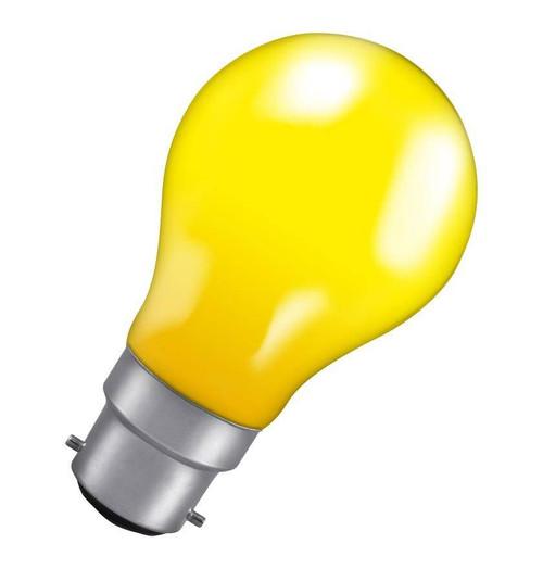 Crompton GLS B22 25W IP65 Yellow 25YBC-COL Image 1