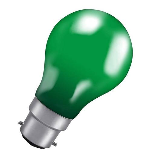 Crompton GLS B22 25W IP65 Green 25GBC-GLZ Image 1