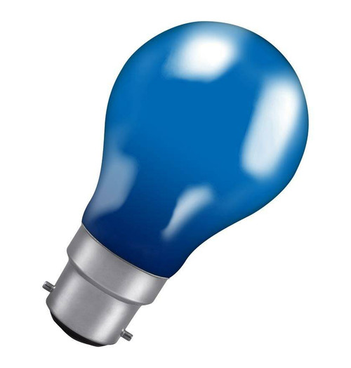 Crompton GLS B22 60W IP65 Blue 60BBC-GLZ Image 1