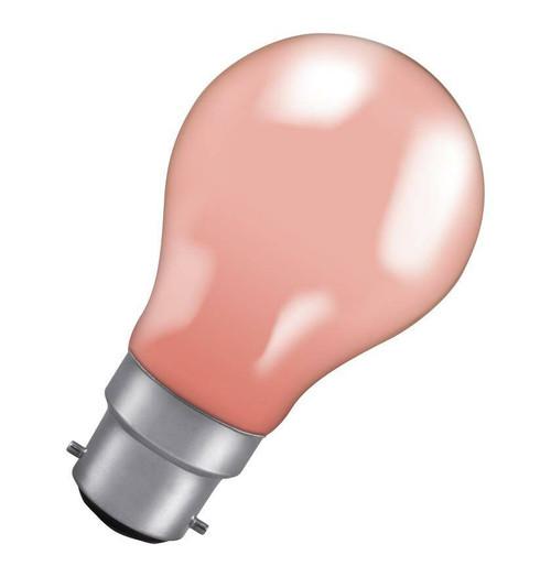 Crompton GLS B22 60W IP65 Pink 60PIBC-GLZ Image 1