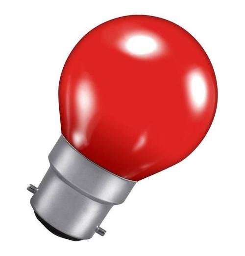 Crompton Golfball B22 15W Red ROU15RBC-GLZ Image 1