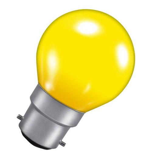 Crompton Golfball B22 15W Yellow ROU15YBC-GLZ Image 1