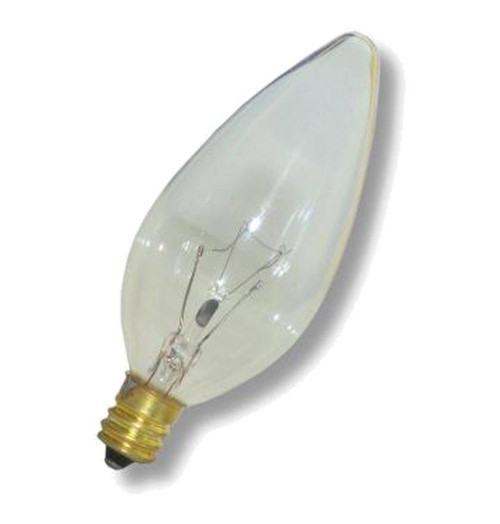 Candle E12 25W Warm White Clear Screw CES Image 1