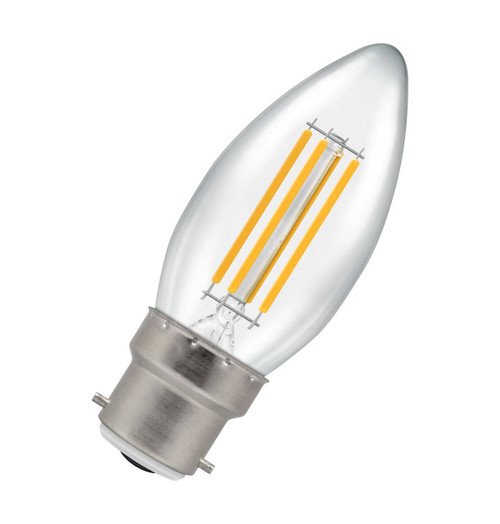 Crompton Lamps LED Candle 6.5W B22 Filament Warm White Clear 12769 Image 1