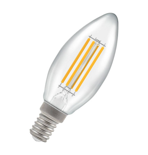 Crompton Lamps LED Candle 6.5W E14 Filament Warm White Clear 12783 Image 1
