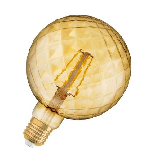Osram LED G125 Globe 4.5W E27 Vintage 1906 Pinecone Extra Warm White Gold Image 1