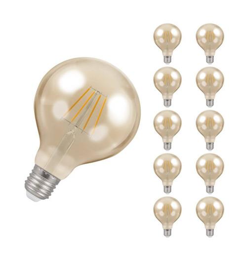 Crompton LED Globe E27 5W Dim 2200K Antique 4290 Image 1