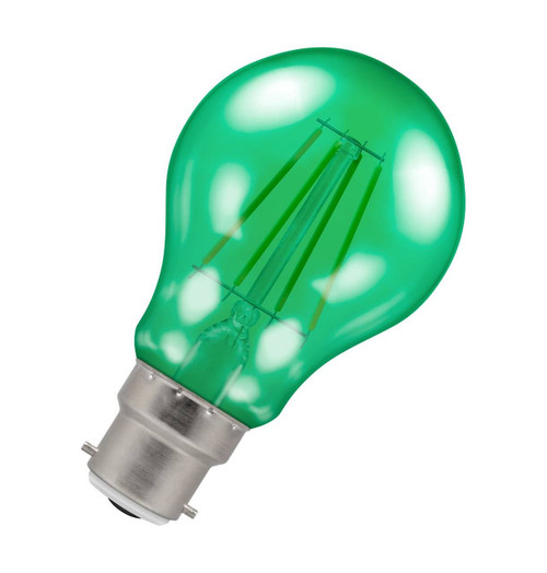 Crompton Lamps LED GLS 4.5W B22 Harlequin IP65 Green Translucent Image 1