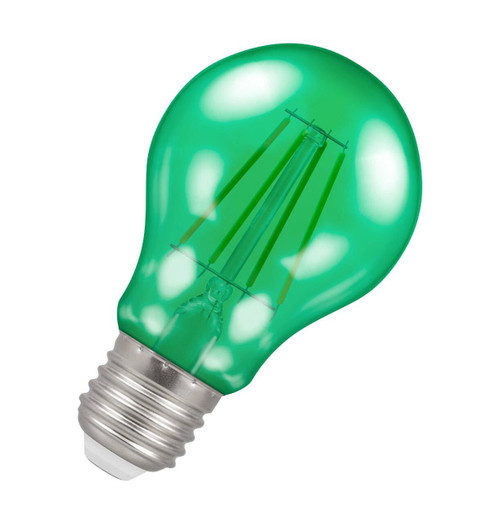 Crompton Lamps LED GLS 4.5W E27 Harlequin IP65 Green Translucent Image 1