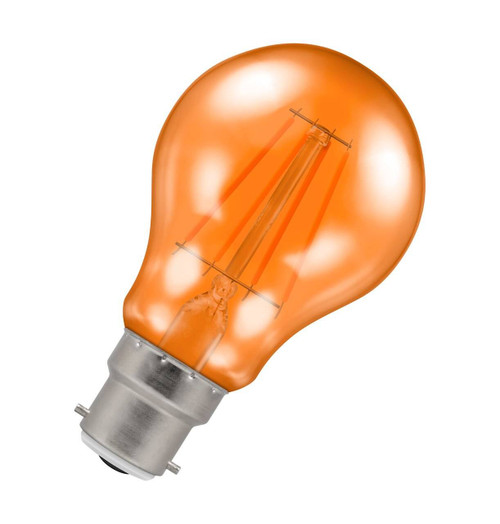 Crompton Lamps LED GLS 4.5W B22 Harlequin IP65 Orange Translucent Image 1