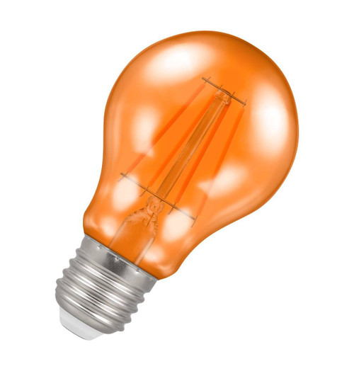 Crompton Lamps LED GLS 4.5W E27 Harlequin IP65 Orange Translucent Image 1
