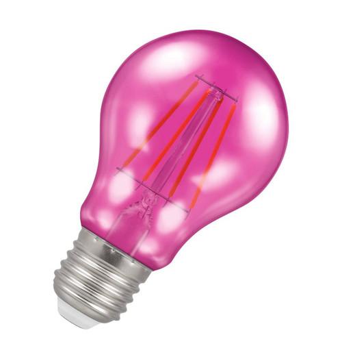 Crompton Lamps LED GLS 4.5W E27 Harlequin IP65 Pink Translucent Image 1