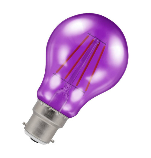 Crompton Lamps LED GLS 4.5W B22 Harlequin IP65 Purple Translucent Image 1