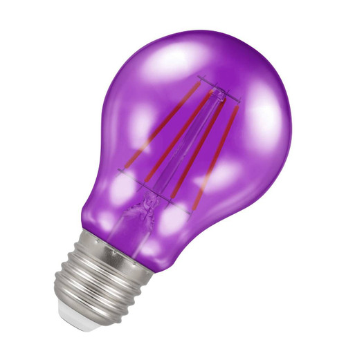 Crompton Lamps LED GLS 4.5W E27 Harlequin IP65 Purple Translucent Image 1