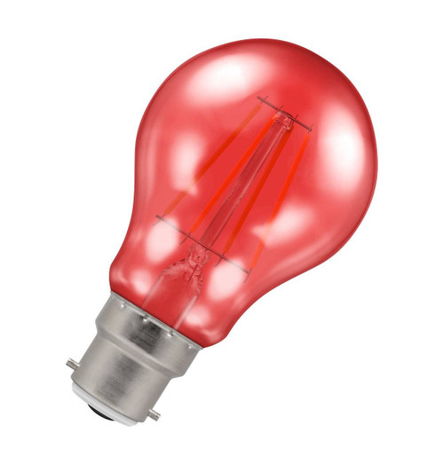 Crompton Lamps LED GLS 4.5W B22 Harlequin IP65 Red Translucent Image 1