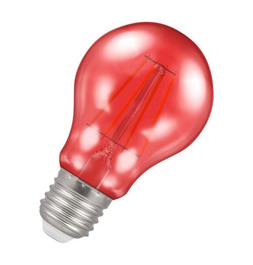 Crompton Lamps LED GLS 4.5W E27 Harlequin IP65 Red Translucent Image 1