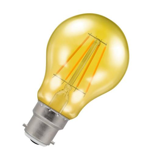 Crompton Lamps LED GLS 4.5W B22 Harlequin IP65 Yellow Translucent Image 1
