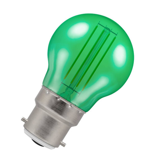 Crompton Lamps LED Golfball 4.5W B22 Harlequin IP65 Green Translucent Image 1