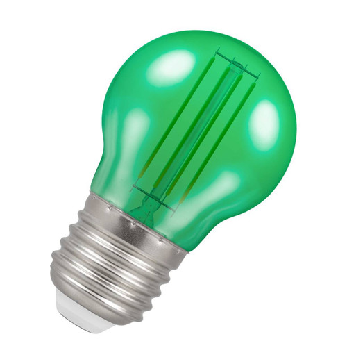 Crompton Lamps LED Golfball 4.5W E27 Harlequin IP65 Green Translucent Image 1