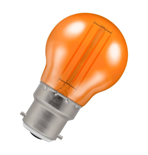 Crompton Lamps LED Golfball 4.5W B22 Harlequin IP65 Orange Translucent Image 1