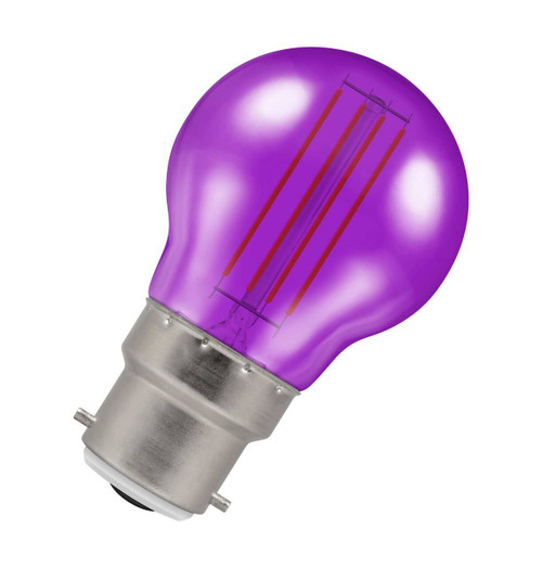 Crompton Lamps LED Golfball 4.5W B22 Harlequin IP65 Purple Translucent Image 1
