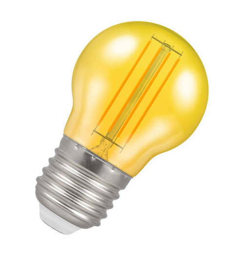 Crompton Lamps LED Golfball 4.5W E27 Harlequin IP65 Yellow Translucent Image 1