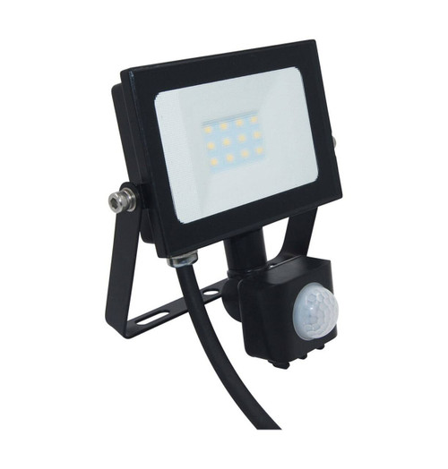 Phoebe LED Floodlight 10W Atlas-Mini PIR Sensor Cool White Black IP65
