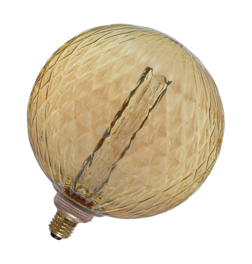 Lyyt LED G200 Globe 3.5W E27 Dimmable Textured Extra Warm White Amber Tinted Image 1