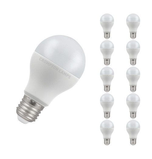 Crompton Lamps LED GLS 14W E27 Dimmable (10 Pack) Warm White Opal (100W Eqv) Image 1