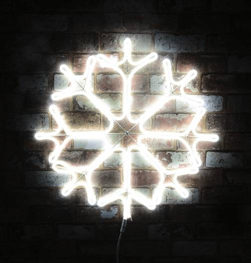 Lyyt LED Neon Effect Outdoor Christmas Snowflake