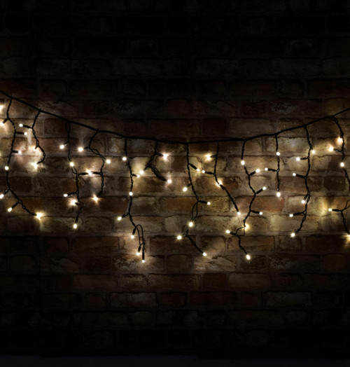Lyyt  3.6m 180 Warm White LED Connectible Multi-Sequence Icicle String Lights Image 1