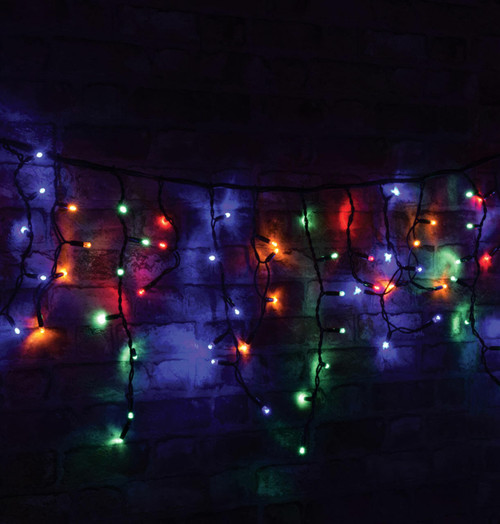 Lyyt  3.6m 180 Multi-Coloured LED Connectible Multi-Sequence Icicle String Lights Image 1