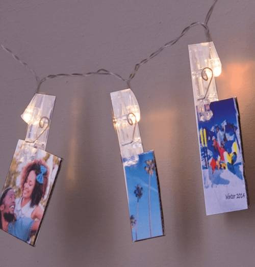 Lyyt LED Battery Operated Photo Clip String Light Christmas Cards Display Extra Warm White 3