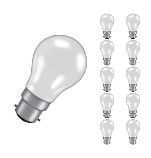 4 x CROMPTON 60w CROWN SILVERED LIGHT BULBS 240-250v BAYONET BC B22 Free Ship UK